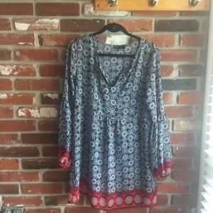 Tops - Blue and Red Tunic